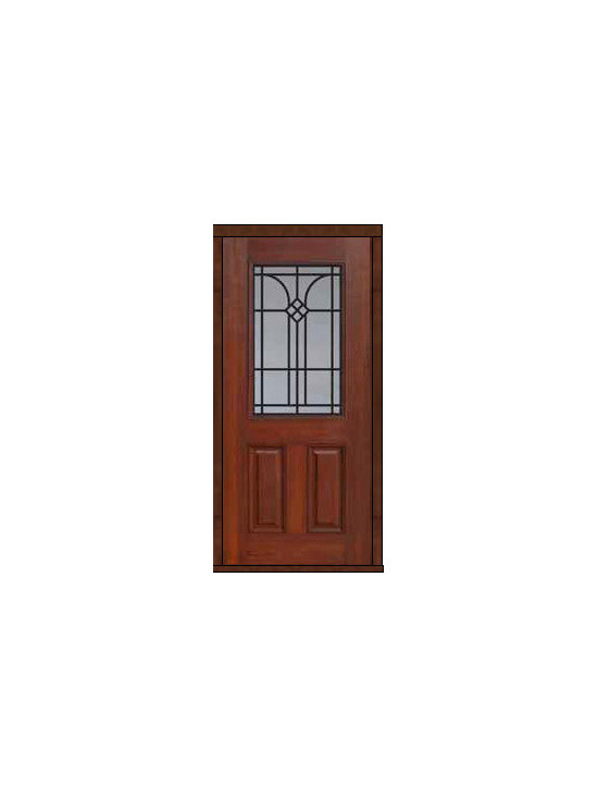 "Single Door 80 Fiberglass Cantania 2 Panel 1/2 Lite GBG Glass - SKU#    MCT012WCABrand    GlassCraftDoor Type    ExteriorManufacturer Collection    1/2 Lite Entry DoorsDoor Model    CantaniaDoor Material    FiberglassWoodgrain    Veneer    Price    980Door Size Options      +$percent  +$percentCore Type    Door Style    Door Lite Style    1/2 LiteDoor Panel Style    2 PanelHome Style Matching    Door Construction    Prehanging Options    Slab , PrehungPrehung Configuration    Single DoorDoor Thickness (Inches)    1.75Glass Thickness (Inches)    Glass Type    Double GlazedGlass Caming    Glass Features    Tempered glassGlass Style    Glass Texture    Glass Obscurity    Door Features    Door Approvals    Energy Star , TCEQ , Wind-load Rated , AMD , NFRC-IG , IRC , NFRC-Safety GlassDoor Finishes    Door Accessories    Weight (lbs)    248Crating Size    25"" (w)x 108"" (l)x 52"" (h)Lead Time    Slab Doors: 7 Business DaysPrehung:14 Business DaysPrefinished, PreHung:21 Business DaysWarranty    Five (5) years limited warranty for the Fiberglass FinishThree (3) years limited warranty for MasterGrain Door Panel"
