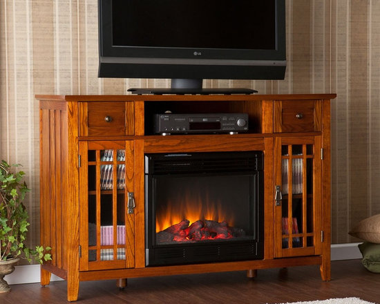 Southern Enterprises Salinas Electric Media Fireplace - StudioLX
