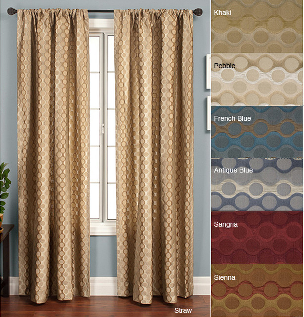 Duchess Circles Rod Pocket 96 Inch Panel Contemporary Curtain Rods By