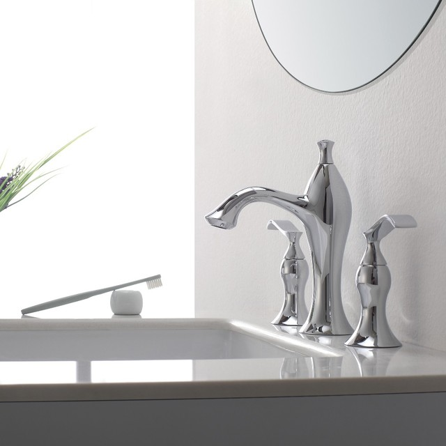 Kraus Glass Vessels & Bathroom Faucets contemporary-bathroom-faucets-and-showerheads