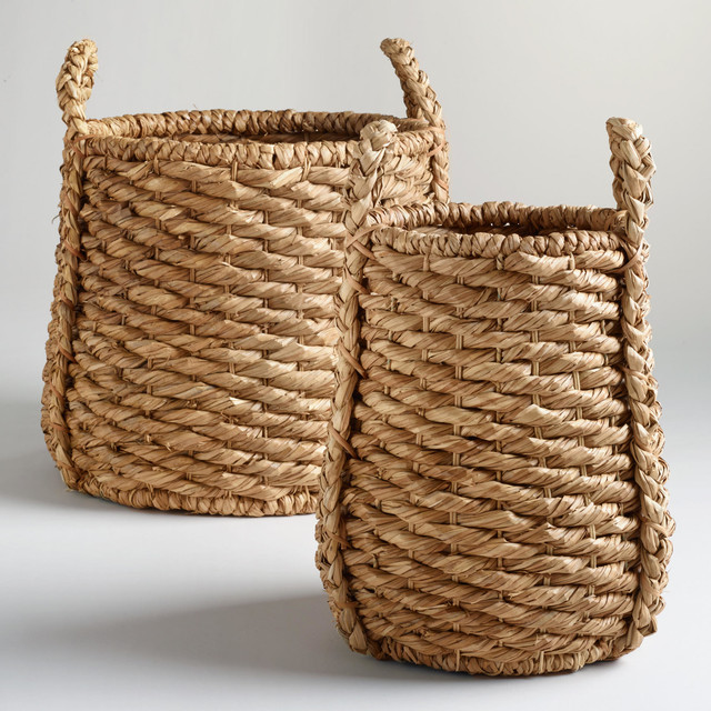 Oversize Natural Carrie Tub Basket contemporary-baskets
