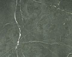 Mirasol® Black Honed Soapstone Slab traditional-kitchen-countertops