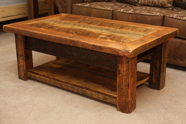 Barnwood Living Room Furniture Rustic Coffee Tables Other Metro By Four Corner