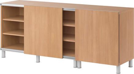 BESTÅ Storage combination w sliding doors modern-storage-cabinets