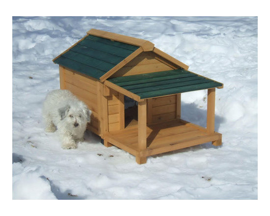 """Premium Pet - Insulated Cedar Dog House - Features: -Dog house. -Natural finish. -Available in 4 sizes: small for pet 25 lbs; medium for pet 55 lbs; large for pet 80 lbs; and extra large for pet 120 lbs. -Solid tongue and groove cedar wood . -All necessary hardware including screw covers are included. -Solid tongue and groove cedar wood is naturally rot and insect resistant. -Each wall panel is pre-assembled with all weather galvanized screws for added strength. -Optional available porch and deck for added comfort and protection from the elements. -Assembly time is less than 25 minutes. Specifications: -Small: 26"""" H x 26"""" W x 24"""" D. -Medium: 34"""" H x 35"""" W x 28"""" D. -Large: 39"""" H x 37"""" W x 32"""" D. -Extra Large: 46"""" H x 47"""" W x 39"""" D."""