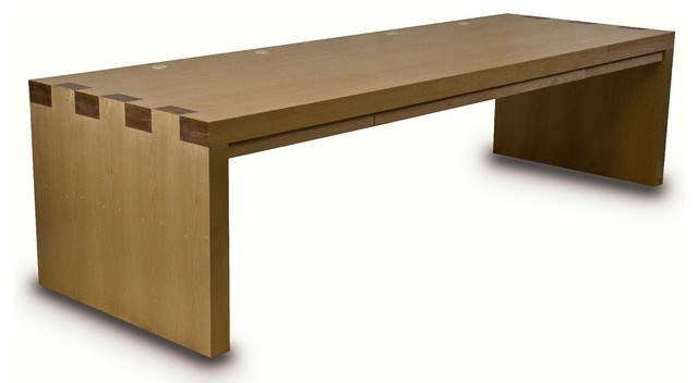 veneered maple desk w drawers modern desks and hutches boise