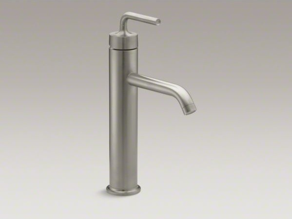 KOHLER Purist(R) tall single-hole bathroom sink faucet with straight lever handl contemporary-bathroom-faucets