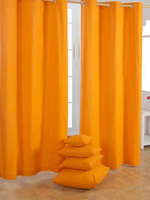 plain orange ready made curtains modern curtains other metro