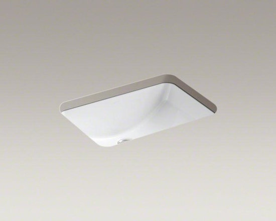 """KOHLER White Ladena® 20-7/8"""" X 14-3/8"""" X 8-1/8"""" Under-mount Bathroom Sink - With its unique, oblong shape and clean lines, Ladena evokes casual elegance. This spacious and distinctive sink pairs classic style with versatility, and is a great choice to complement both traditional and modern bathrooms."""