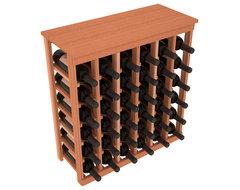 36 Bottle Kitchen Wine Rack in Premium Redwood, (Unstained) contemporary-wine-racks