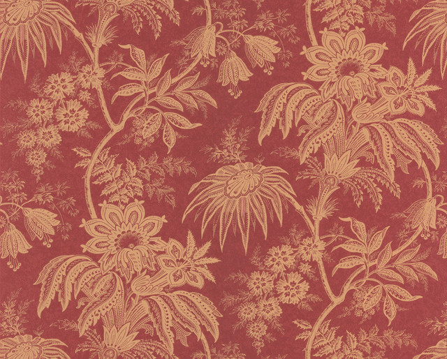brewster red jacobean floral - photo #1