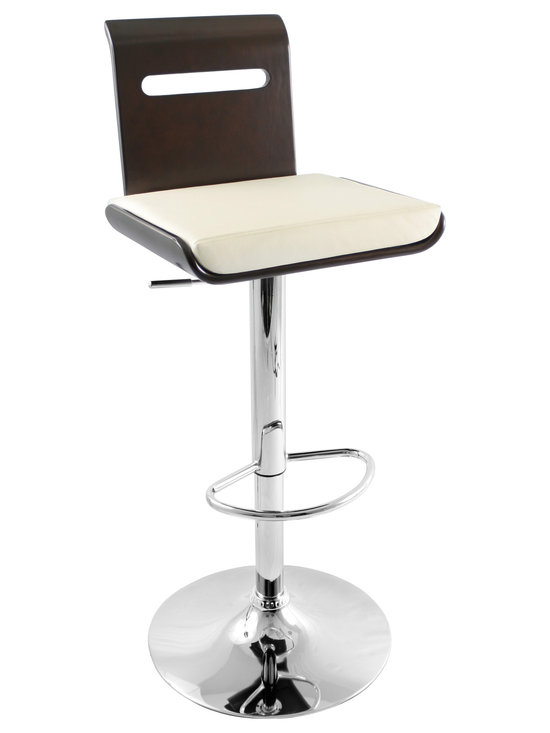 Viera Bar Stool - WENGE/CREAM