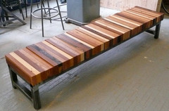 Reclaimed-wood-bench-combined-tube-steel-base-reclaimed-wood-bench