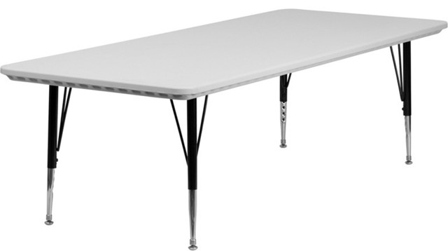 30''W x 72''L Height Adjustable Rectangular Granite Pre-School Activity Table contemporary-kids-tables