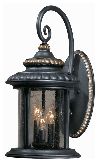 Triarch 75392-16 The Pub Lava Stone Outdoor Wall Sconce eclectic-outdoor-lighting