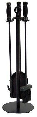 4 Pc. Black Wrought Iron Fir contemporary-space-heaters