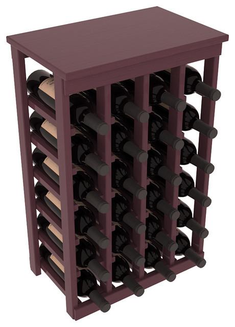 24 Bottle Kitchen Wine Rack in Ponderosa Pine, Burgundy + Satin Finish contemporary-wine-racks