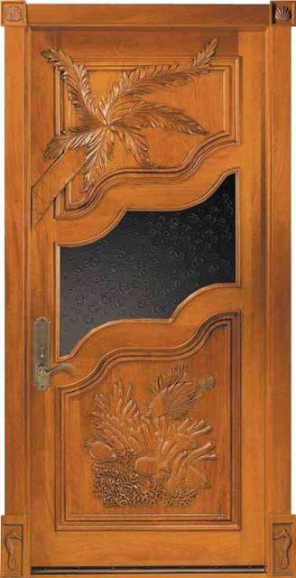 JeldWen Carved Mahogany Door Wheat