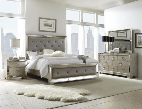 PULASKI Furniture Farrah Silver 5 Piece King Bedroom Set 395 BR K3 Trad