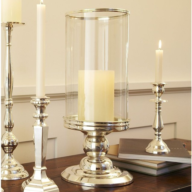 Silver plated Hurricane Traditional Candleholders