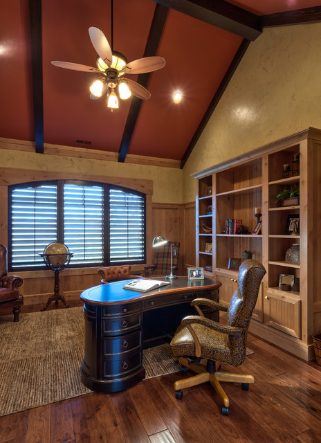 Creek Hollow Castle rustic-home-office