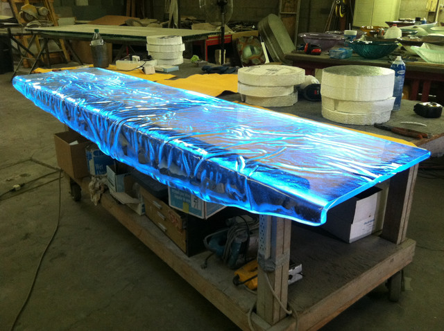 Inspired Led Colored Leds Custom Glass Table Top