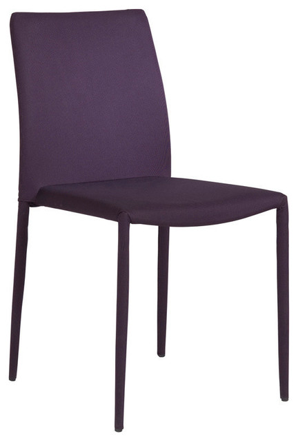 Eurostyle chessa lb low back side chair in purple fabric for Modern low back dining chairs