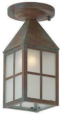 Carriage Exterior Flush Ceiling Mount Light traditional-outdoor-ceiling-lights