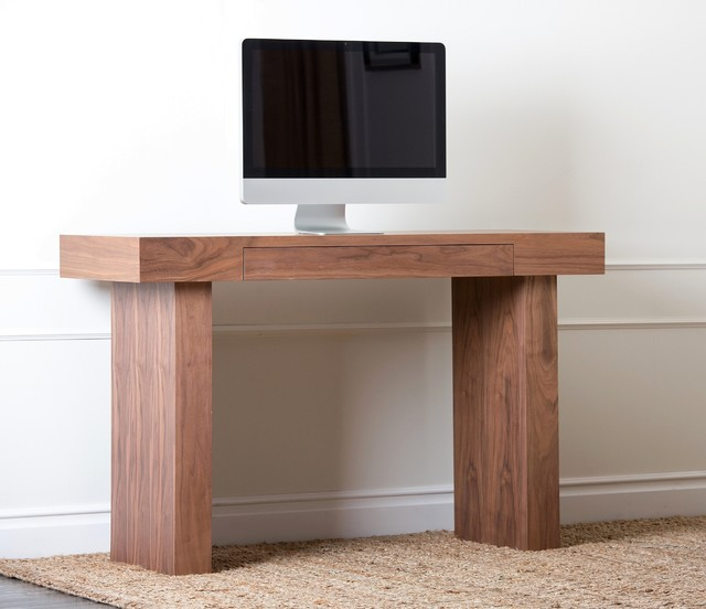 abbyson living parker walnut desk contemporary desks and hutches