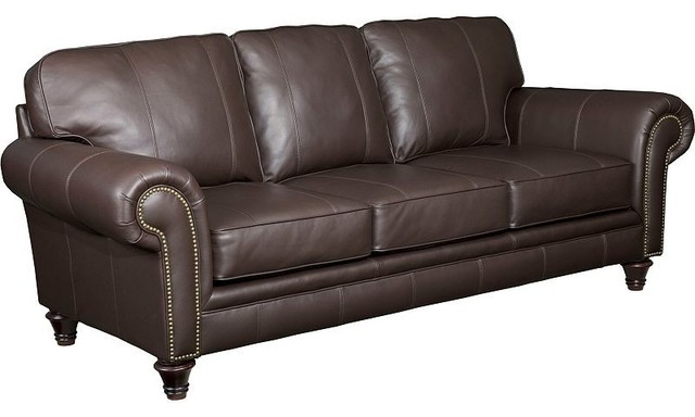 Broyhill Bromley Leather Sofa L497 3 Traditional