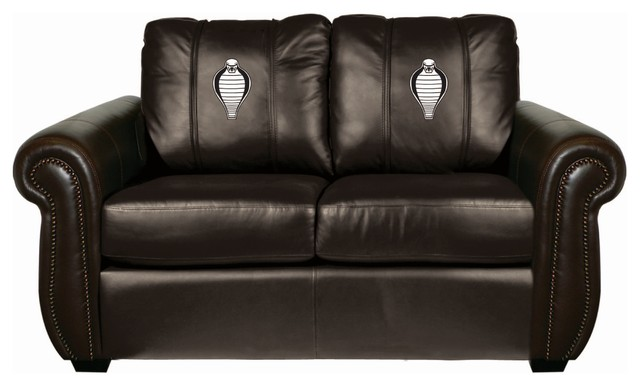 Ford Mustang Cobra Head Chesapeake BROWN Leather Loveseat traditional ...