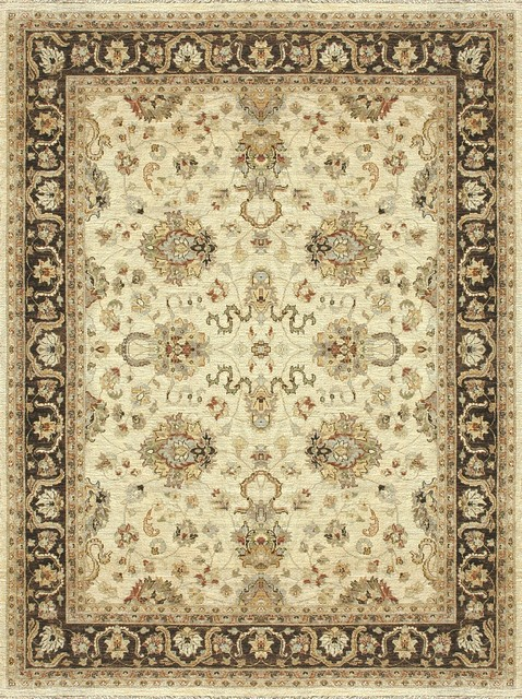 Loloi Rugs LLR-MAJEMM-06IV Majestic Ivory-Mocha Traditional Hand Knotted Rug traditional-rugs