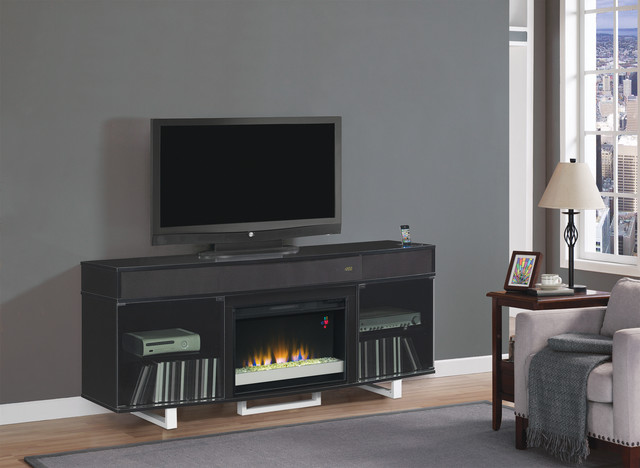 Enterprise Electric Fireplace Entertainment Center in Black - 26MMS9616-NB157 contemporary-fireplaces