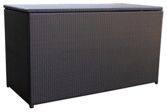 Urbana Outdoor Wicker Cushion Storage Box Contemporary