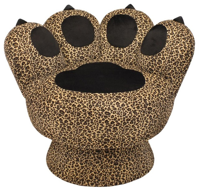 leopard print paw chair contemporary armchairs and
