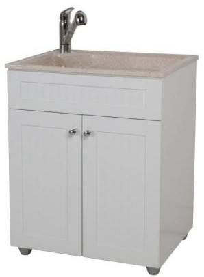 Sink And Washer All In One : WoodCrafters All-in-One 27 in. ColorPoint Premium Laundry Sink and ...