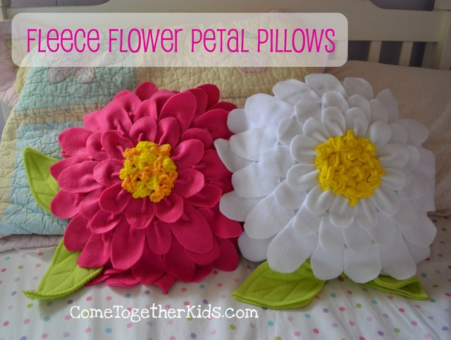 Fleece Flower Petal Pillows  