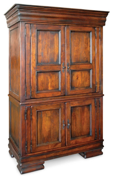 royalty solid wood bedroom armoire  traditional