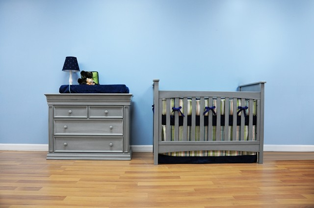 Braxton Crib in Vintage Grey traditional-cribs