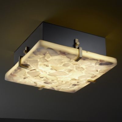 Alabaster Rocks! Clips Flushmount by Justice Design - Bathroom Vanity Lighting