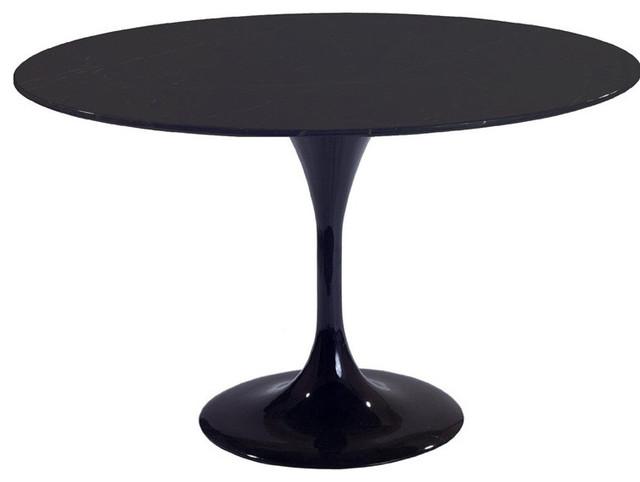 48 Quot Round Molded Black Fiberglass Table Contemporary
