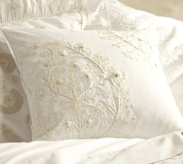 Traditional Pillows : Paisley Embroidered Pillow Cover - Traditional - Decorative Pillows