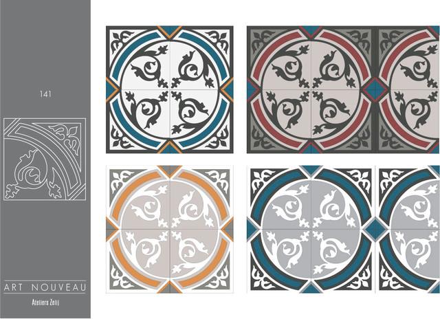carreaux de ciment collection art nouveau victorien carrelage sol et mur other metro. Black Bedroom Furniture Sets. Home Design Ideas