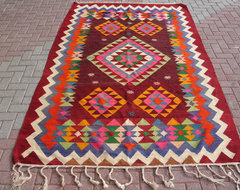 Vintage Turkish Kilim Rug From Milas by Turkish Kilim eclectic-rugs