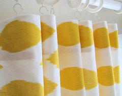 Pair of Decorative Designer Custom Curtains by Castle Creek Designs modern-curtains