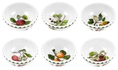 Portmeirion Pomona Classics Individual Fruit/Salad Bowl - Set of 6 modern-serving-bowls