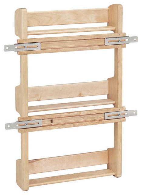 rev a shelf 4sr 15 door mount spice rack wood maple. Black Bedroom Furniture Sets. Home Design Ideas
