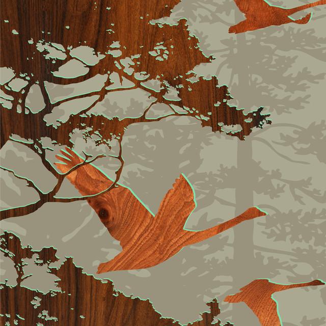 Forest Critters Print - Bird 2 contemporary-artwork