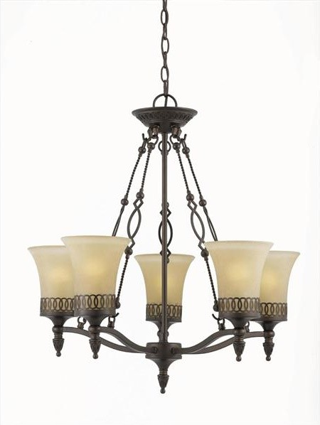 York 5 Light Chandelier modern-chandeliers