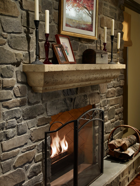 The Angelo Mantel Shelf Rustic Fireplace Mantels By
